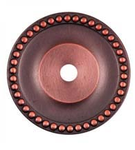 Round Beaded Cabinet Knob Rose, RK International BP-7822