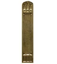 Gothic Church Solid Brass Push Plate, Brass Accents A04-P5840
