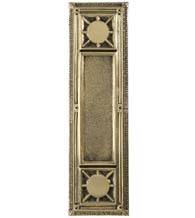 Nantucket Solid Brass Push Plate, Brass Accents A04-P7200