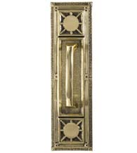 Nantucket Solid Brass Pull Plate, Brass Accents A04-P7201