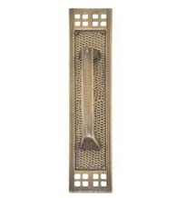 Arts and Crafts Pull Plate, Brass Accents A05-P5351