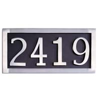 Four Number Address Plate, Brass Accents I08-P7540-627