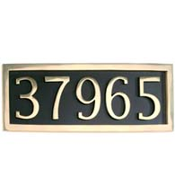 Five Number Address Plate, Brass Accents I08-P7550-605