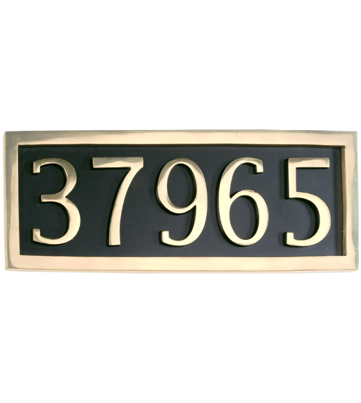 5 House Number Address Plates