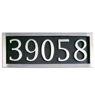 Five Number Address Plate Assembly, Brass Accents I08-P7550-627