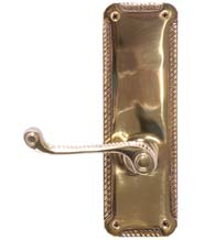 7 Inch Rope Leverset, Brass Accents D06-K538-FAR