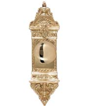 L'Enfant Latchset with Netropol Knob, Brass Accents D04-K561-NET