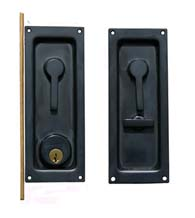 Keyed Sliding or Pocket Door Lock, Baldwin 8590