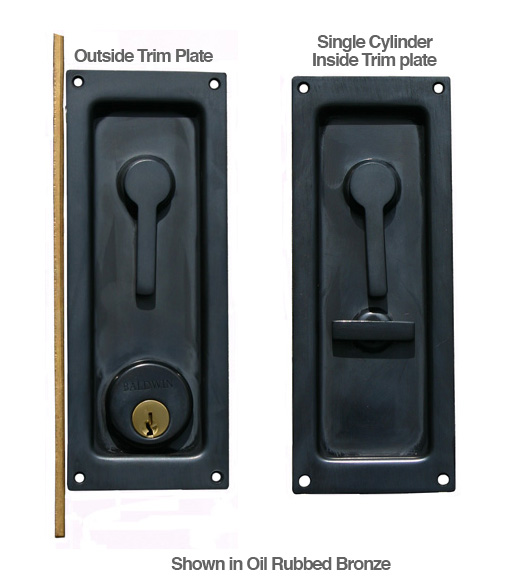 Keyed Sliding Or Pocket Door Lock Baldwin 8590 Doorware Com