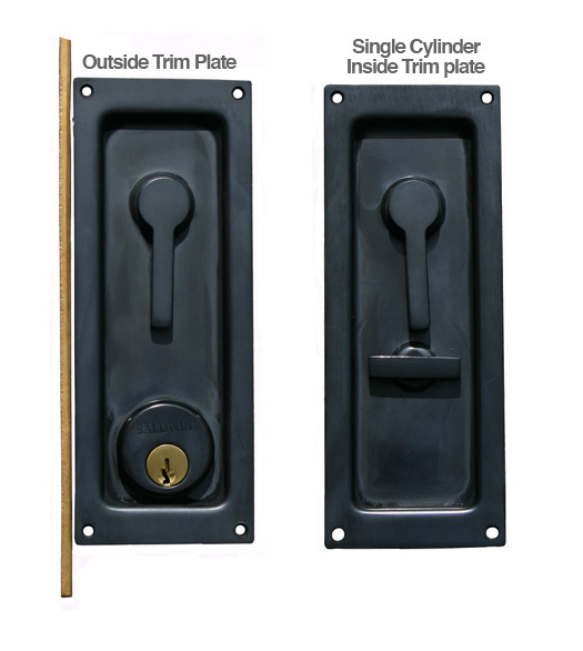 Door Latch Double Pocket Door Latch