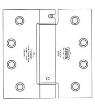 4 x 4  x Square Corners Heavy Duty Spring Hinge, Pair, Bommer LB4310C-400