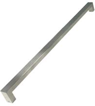 Rectangular 60 Inch Mitered Stainless Steel Pull