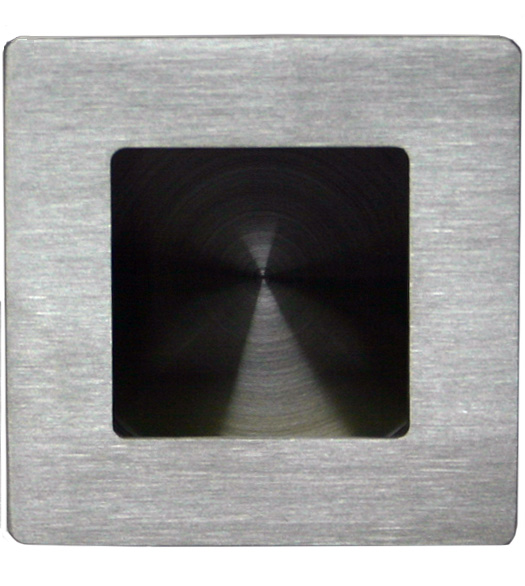 Satin Stainless Steel Square Flush Pull
