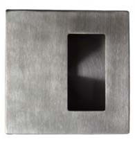 Modern Square Flush Pull With Offset Finger Hole, CAN-JNF-FP224-70
