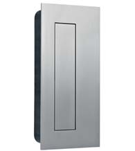 Rectangular Stainless Steel Flush Pull With Flush Cover