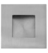 2-3/8 Inch Square Stainless Steel Flush Pull