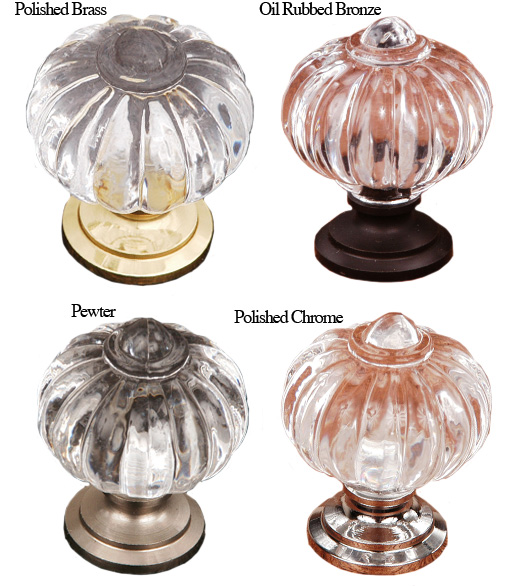 Clear Melon Cabinet Door Knob