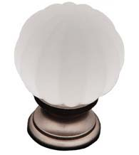 Smoked Glass Globe Cabinet Knob, RK International CK-1G