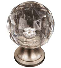 Clear Acrylic Hammered Cabinet Knob, RK International CK-2AC