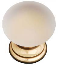 Frosted Glass Ball Cabinet Knob, RK International CK-2G