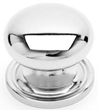 Simple Cabinet Knob with Stepped Rose, RK International CK-3216-AT