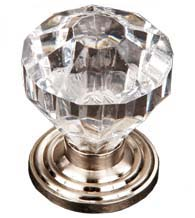 Diamond Cut Acrylic Cabinet Door Knob, RK International CK-3AC