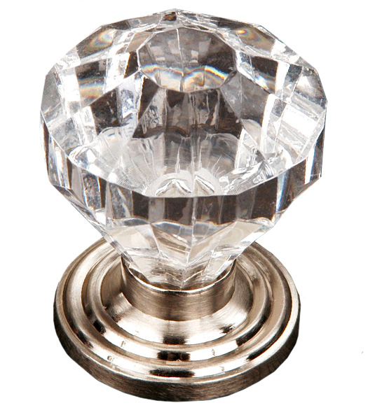 Clear Acrylic Diamond Cabinet Knob