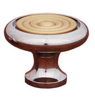 Retro Cabinet Knob with Riveted Brass Top, RK International CK-4248