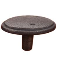 Distressed Oval Cabinet Knob with Ridged Edge, RK International CK-712