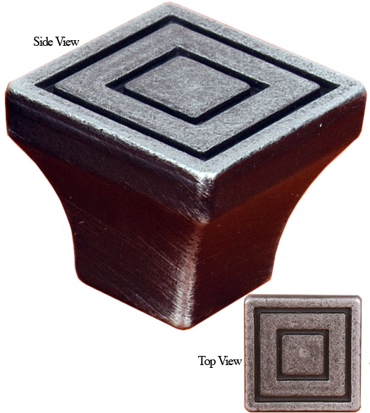 Square Cabinet Knob with Square Lines