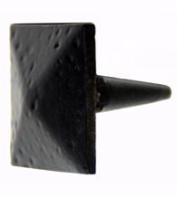 Black Iron Forged Square Pyramid Clavos