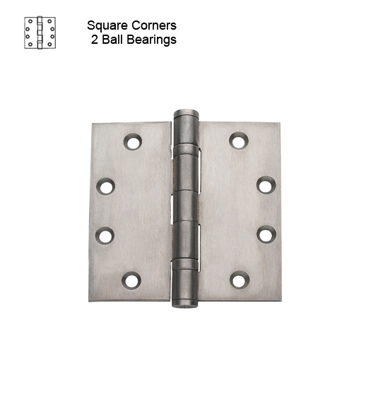 4-1/2 Commercial Brushed Chrome Hinge