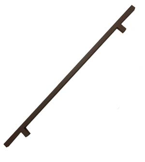 Oil Rubbed Bronze 3 Foot Center to Center Square Door Pull, DWD-SQPULL48-613