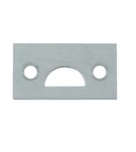 Mortise Strike Plate for Surface Bolts, Deltana 178MST