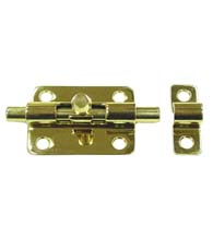 3 Inch Solid Brass Barrel Bolt, Deltana 3BB