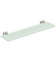 22 Inch Modern Frosted White Glass Shelf, Deltana 55D2015