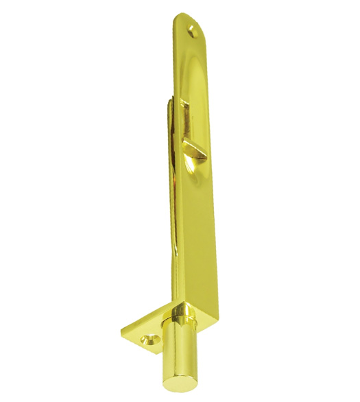 Solid Brass 6 Inch Flush Bolts With Round Corners