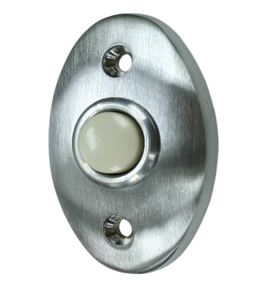 Solid Brass Oval Doorbell Button