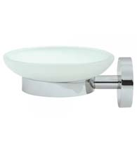 Modern Glass Soap Wall Mounted Dish, Deltana BBS2012