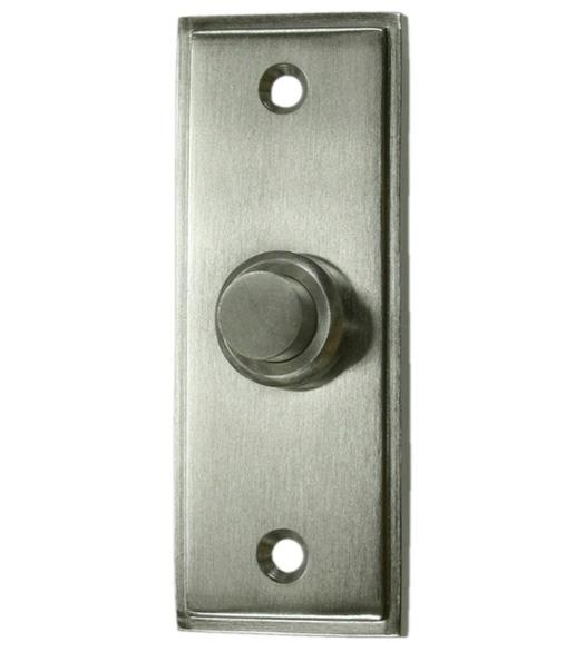 Solid Brass Contemporary Doorbell Button Deltana BBS333 Doorwarecom