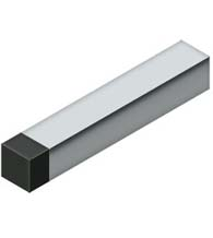 4 Inch Square Baseboard Door Bumper, Deltana BDSS40