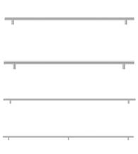 Large Length Stainless Steel Bar Pulls, from 21 inches - 40 inches c.c., Deltana BPxxxxSS-LG