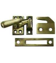 Solid Brass Small Window Lock Casement Fastener, Deltana CF066