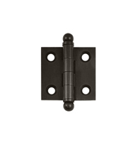 1.5 Inch Square Solid Brass Cabinet Hinge, Pair, Deltana CH1515