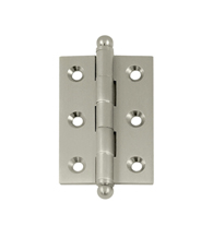 2-1/2 Inch 1-11/16 Inch Solid Brass Cabinet Hinge, Pair, Deltana CH2517