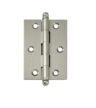3 Inch x 2 Inch Solid Brass Cabinet Hinge, Pair, Deltana CH3020