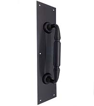 Commercial Door Pull Plate with 8 Inch Pull, Deltana PPH3515/DP2576
