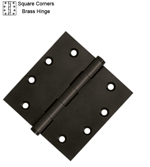 4-1/2 Inch Solid Brass Hinges