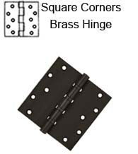 6 x 6 x Square Corners Heavy Duty with Ball Bearing Solid Brass Hinge, Pair, DSB66BB