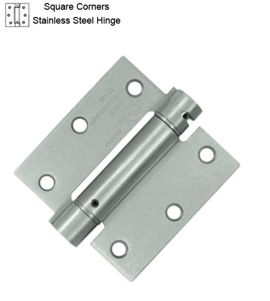 3 1 2 X 3 1 2 Stainless Steel Spring Hinge Deltana